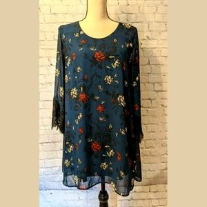 ASTR Womans Dress Size 6 LINED Boho Layered Shift